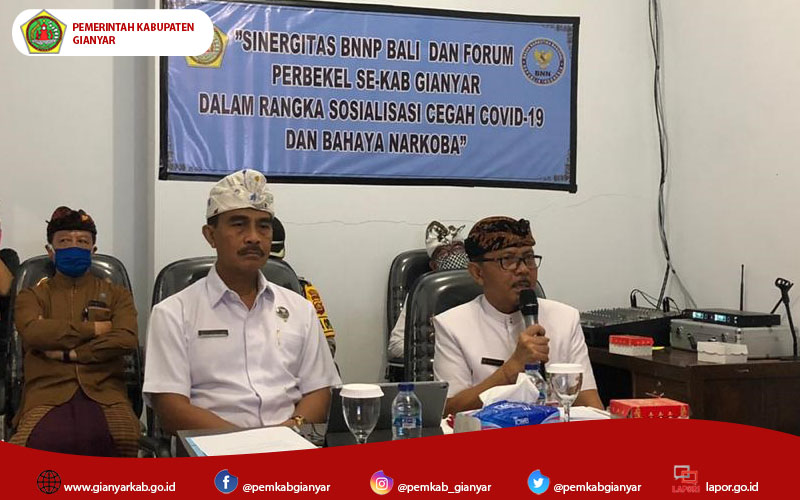 Cegah Bahaya Narkoba, BNNP Bali Vidcon Dengan Perbekel se-Kab. Gianyar