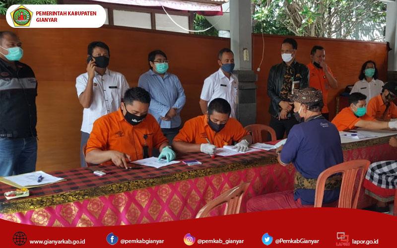 BPKP Provinsi Bali Bersama Inspektorat Kab Gianyar dan Kejari Gianyar Pantau Penyaluran BST di Kecamatan Sukawati