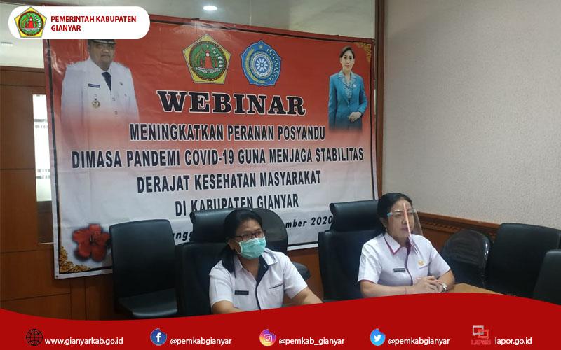Jaga Stabilitas Kesehatan Masyarakat, Dinas PMD Gianyar Gelar Webinar