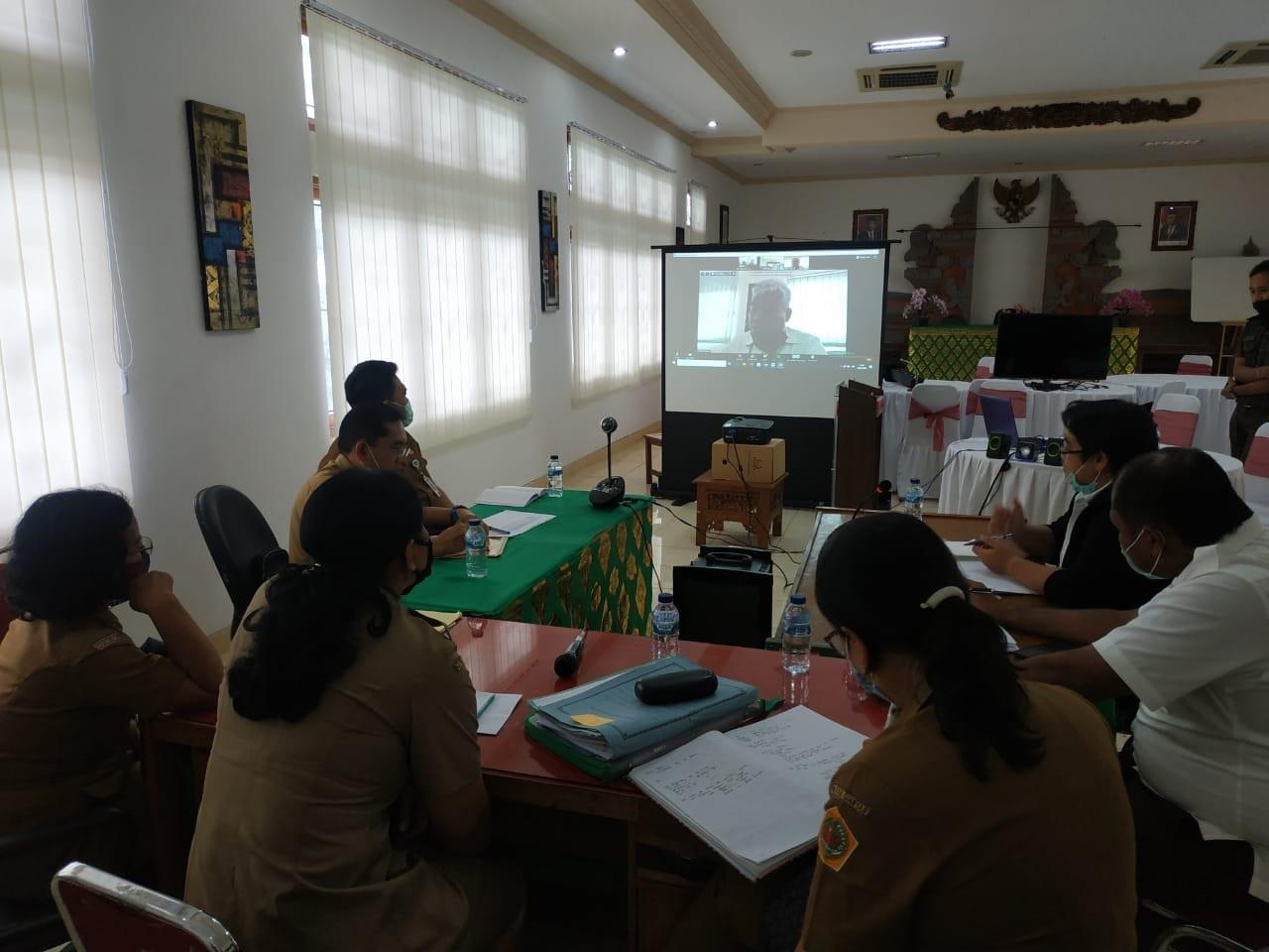 Kejari Gianyar Gelar Rapat, Pastikan Pengadaan Barang/Jasa Terkait Penanggulangan Covid-19 Sesuai Aturan