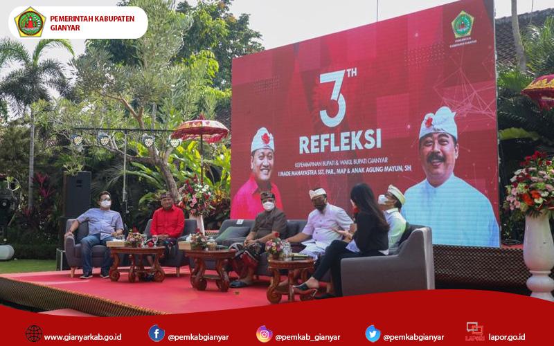 3 Tahun Refleksi Kepemimpinan Bupati dan Wakil Bupati Gianyar Tahun 2018-2023