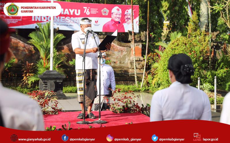 Peringatan Hari Jadi Provinsi Bali di Kabupaten Gianyar