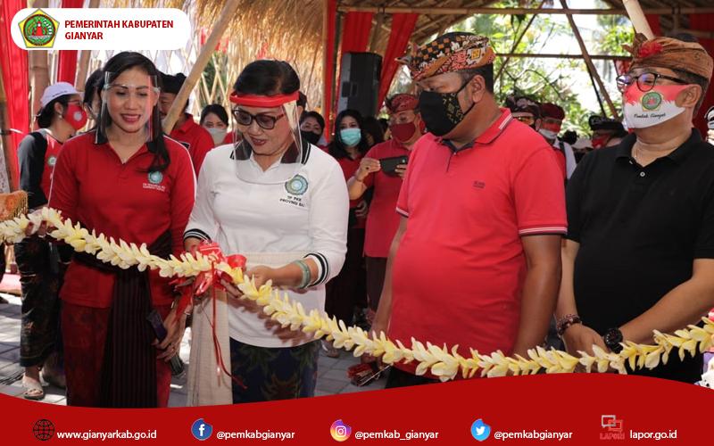 Ketua TP.PKK Bali, Resmikan Percontohan Hatinya PKK dan Rumah Kreatif di Kabupaten Gianyar