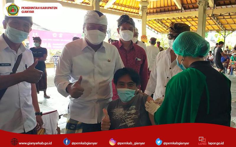 Setengah Lebih Masyarakat di Gianyar Sudah Tervaksin, Sebentar Lagi Gianyar Masuki Herd Immunity.