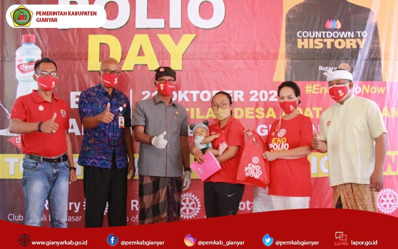 Kampanye End Polio Pemerintah Gianyar bersama Rotary District 3420