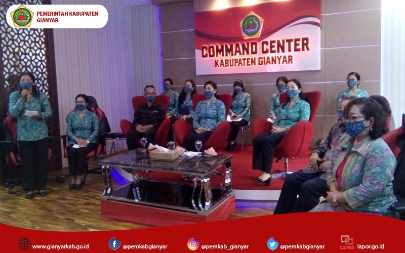 TP.PKK Kabupaten Gianyar Gelar Webinar Optimalkan Pemanfaatan Tanaman Hatinya PKK