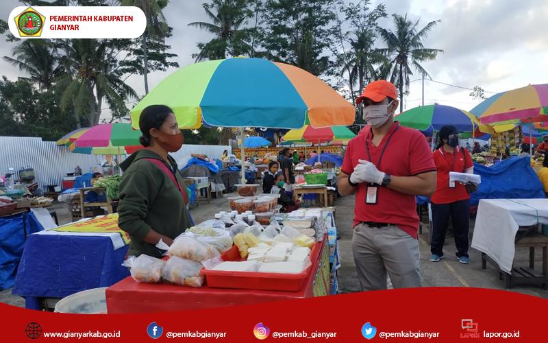 Penerapan New Normal di Pasar Tradisional, Disperindag Provinsi Kunjungi Pasar Umum Gianyar.